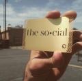 Golden Cutout Metal Business Cards-thumb