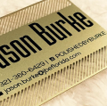 Florida Gold Cut out Business Card -thumb