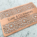 Cutout Pattern Copper Business Cards Metal -thumb
