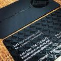 UV Matt Black Metal Business Cards -thumb
