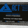 Cut out Black Metal Blue Print Business Cards -thumb