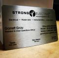Electrician Handyman Metal Business Cards -thumb