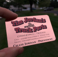 Trucker Copper Rose Business Cards -thumb