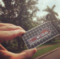 1800 My Solar Silver Metal Business Cards -thumb