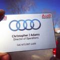 Audi Dealer Metal Business Card-thumb