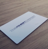 Pure Silver Metal Business Cards-thumb