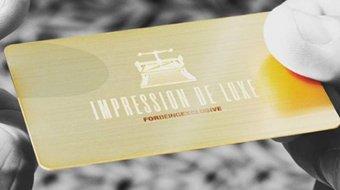Gold Custom Business Cards