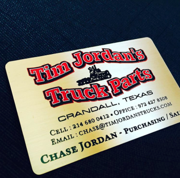 Color Printed Metal Business Cards
