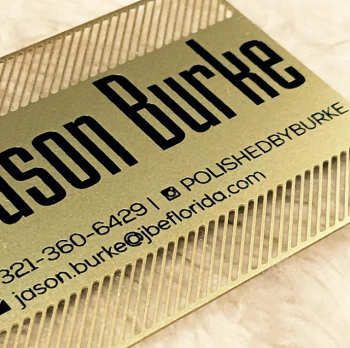 Florida Gold Cut out Business Card