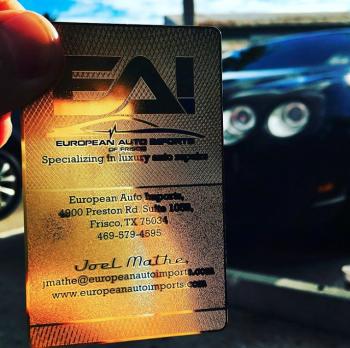 Automotive Gold Luxury Cards