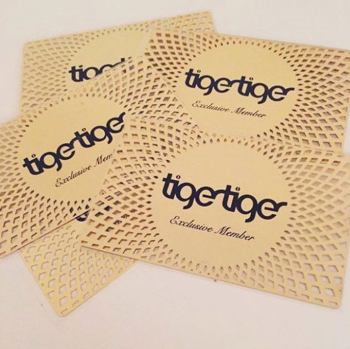Cut out Gold Metal Cards