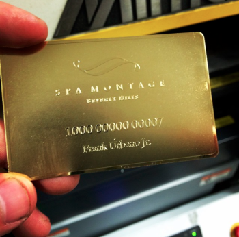 Golden Metal Business Cards