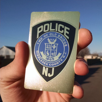 New Jersey Police Officer Metal Business Card