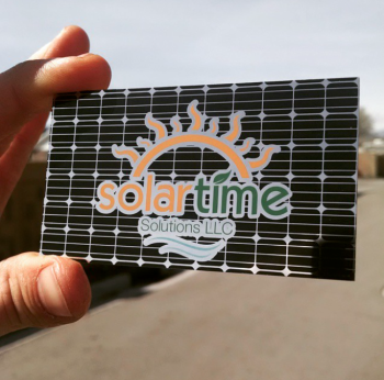 Solar Panel Company Business Cards