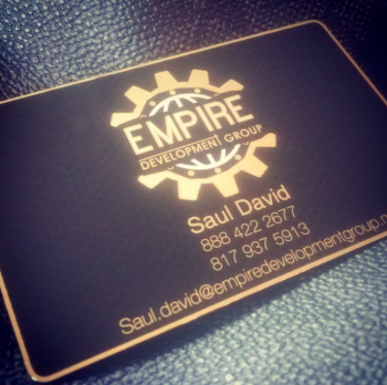 Gold Black Lux Metal Business Card
