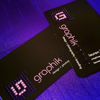 Black Designer Business Cards