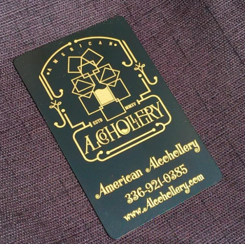 Distillery Company Gold Black Business Cards