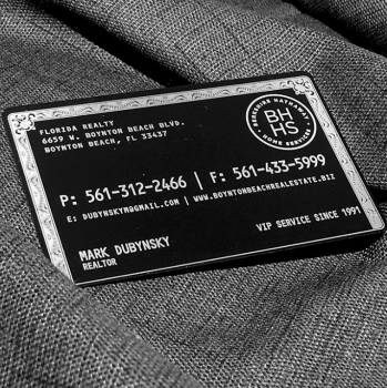 Amex Black Card Pattern Business Cards