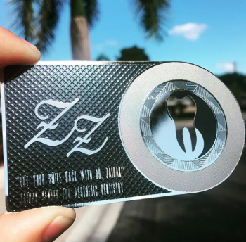 Black and silver Metal Card