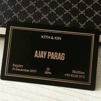 Variable Name Black Gold Metal Membership Card