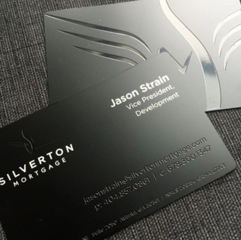 Mortgage company Black metal business Cards