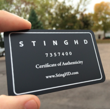 Black White Metal Business Cards