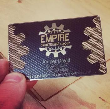 Empire Black Metal Business Cards