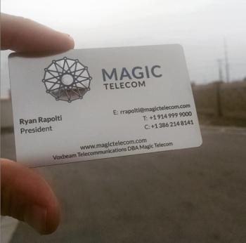 Telecom Silver Metal Business Cards