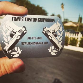 Guns & Roses Metal Business Card