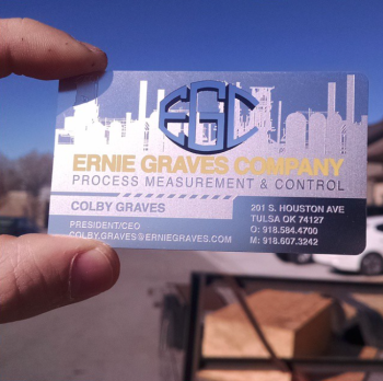 Gas Plant Contractor Metal Business Cards Today