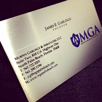 Shiny Stainless Steel Business Cards