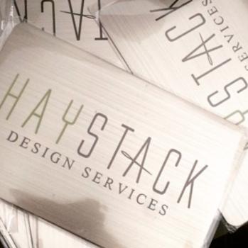 Designer Silver Metal Business Cards