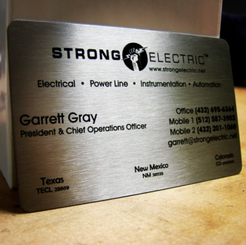 Electrician Handyman Metal Business Cards