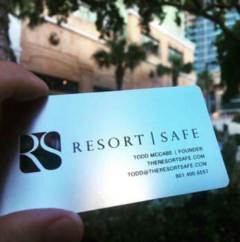 Resort Silver Metal Card