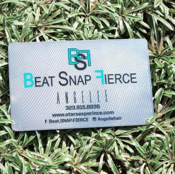 Beat Snap Silver Metal Card