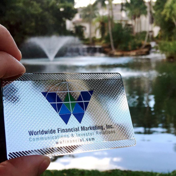 Financial Business Cards Metal
