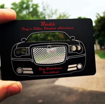 Bentley Black Metal Cards