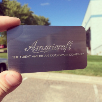 Engraved Metal Business Cards