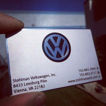 Volkswagen Metal Business Card