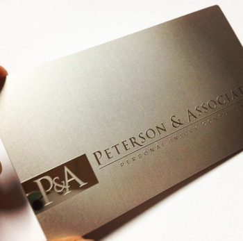 Raised Silver Business Cards