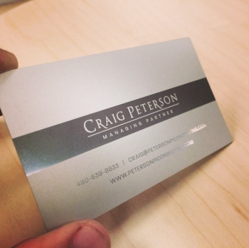 White Gold Business Cards