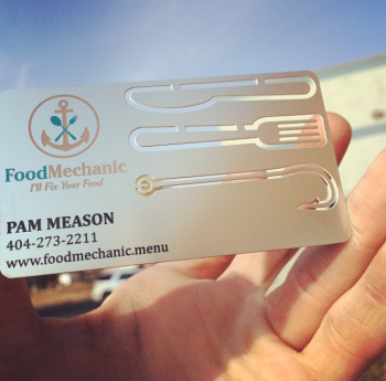 Food Company Metal Business Card