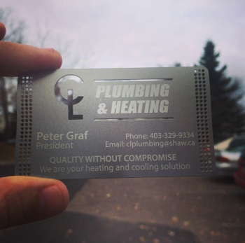 Plumber Steel Business Cards