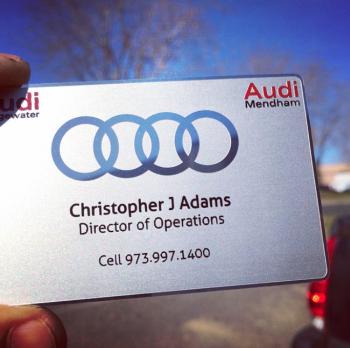 Audi Dealer Metal Business Card