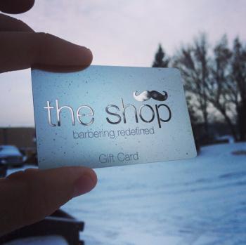 Barber Shop Gift Card Metal