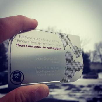 Custom Edge Metal Business Card
