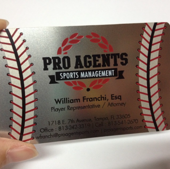 Sports Team Metal Business Cards