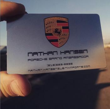 Porsche Company Business Cards