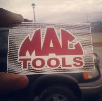 Mac Mechanic Company Metal Business Cards